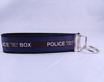 Dr. Who Police Box Key Fob