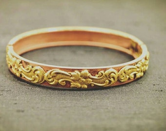 Vintage Copper Hinged Bracelet