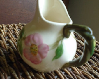 Franciscan Desert Rose Pitcher 4 1/2 Inches Tall - Perfect Condition - American-made porcelain