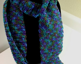 Rainbow Multicolor Crochet Scarf #5241-5245