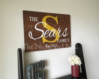 Personalized Wood Sign, Family Sign, Wood Sign, Rustic Home Decor, Wedding Gift, Wedding Sign, Anniversary Gift, Rustic Home Decor