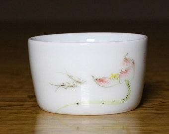 Fish and Lotus Porcelain Tea Cup 75ml