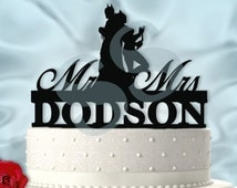 Personalized Batman and Catwoman Wedding Cake Topper