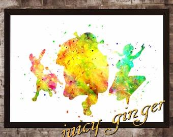Shrek Poster, Shrek Watercolor, Home Decor, Art Print, instant download, digital printing, watercolor printing