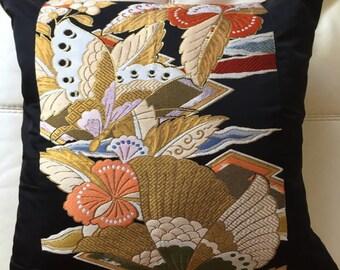Vintage Kimono Silk Cushion cover - 1940's