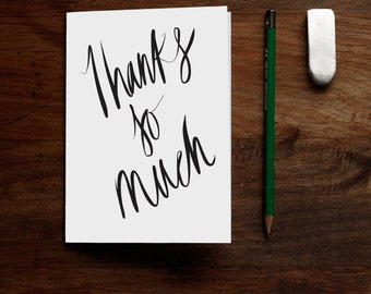 Thanks So Much - PRINTABLE Thank You Card