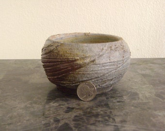 Swirl Etched Wood Fired Bowl