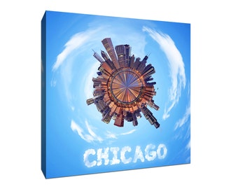 Chicago City Planets Canvas Print