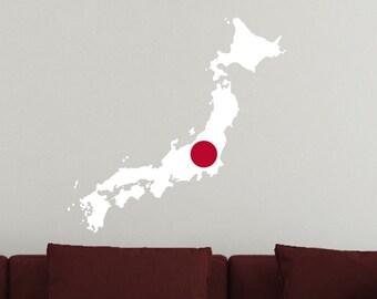 Japan Vinyl Country Cutout