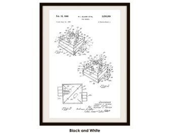 Rock'em Sock'em Robots Patent Poster Print (Not Framed)