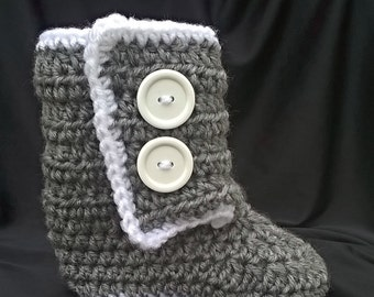 Crocheted Slipper Boots