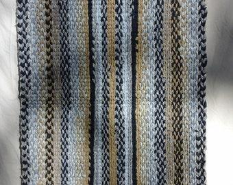 hand twined rag rug #11