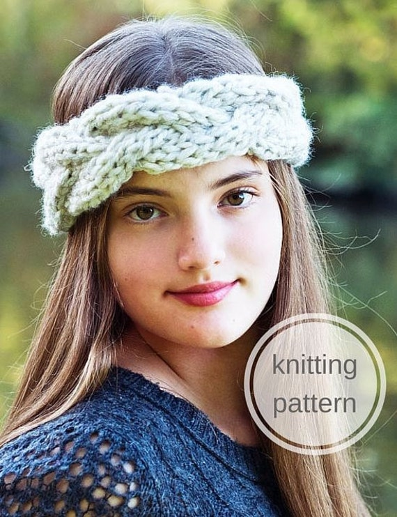 Knitting Patterns For Young Knitters : Knitting Pattern Braided Headband // Young by ...