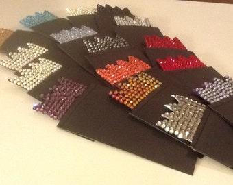 Pocket Squares with Swarovski Crystals