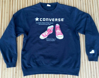 VTG CONVERSE Patch Logo Spellout Sweater