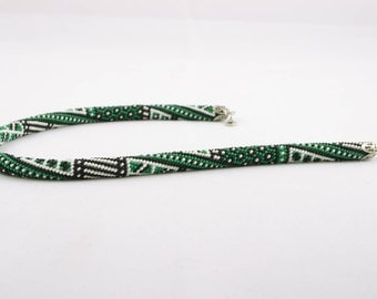 Beautiful beaded cord necklace