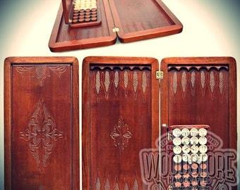 Luxury Handmade Wooden Backgammon Set