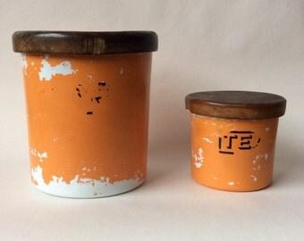 Vintage Nasco Plastic Sugar & Tea Container set
