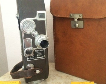 Vintage 16mm Film Camera Keystone model A-12 Movie Camera 1949