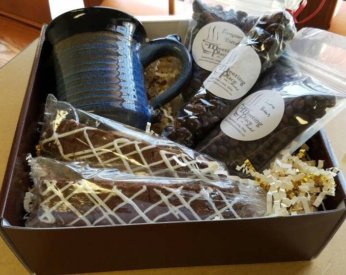Gluten Free Gourmet Coffee Gift Basket, Birthday Gift, Coffee Sampler, Boyfriend Gift, For Husband, For Boyfriend, Gift for Men, For Him