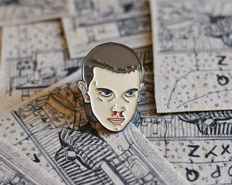 AVAILABLE NOW Stranger Things, Enamel Pin. Eleven, Scifi, Horror, Netflix.