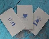 Set of Three Manual Brewing Moleskine Cahier Notebooks (Chemex, Aeropress and Siphon)