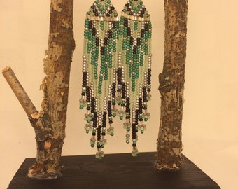 Alaska Native handmade beaded earrings