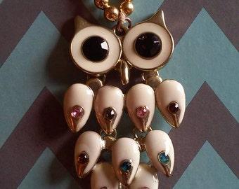 Golden Owl Pendant Necklace