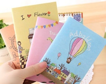 Illustration mini notebook (Lined) // planner // notepad // Journal