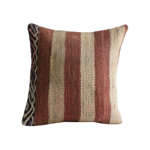 Turkish Kilim Throw Pillows : Turkish Kelim Pillow Cover Decorative Kilim by Antalyakilims
