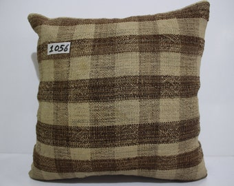 striped Turkish kilim pillow 15x15 vintage kilim pillow couch pillow cushion cover decorative kilim pillows  SP4040-1056