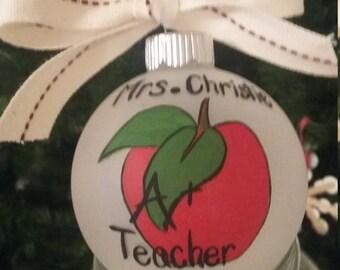 Teacher A+ Ornament