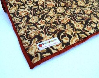 Kalamkari Quilted Blankets - Crimson Gold