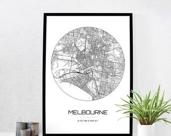 Melbourne poster Etsy
