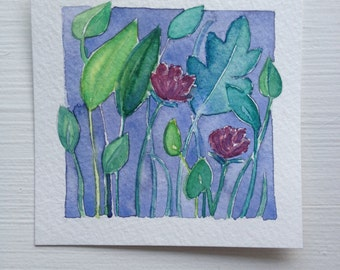 Original Watercolor, Summer Bloom III