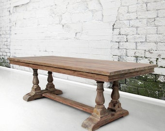 Table, Dining Table, Tresle Table, Reclaimed Wood, Handmade