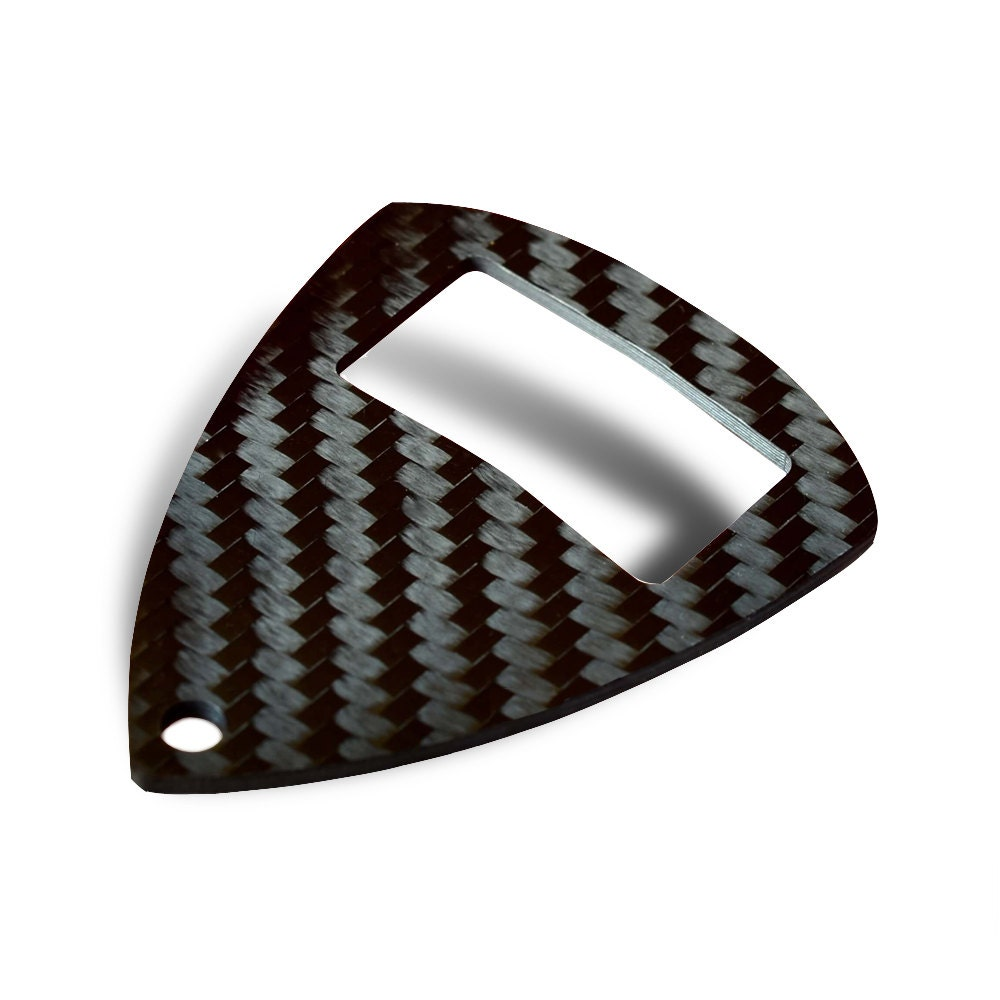 carbon fiber bottle opener keychain by centri designs office housewares. Black Bedroom Furniture Sets. Home Design Ideas