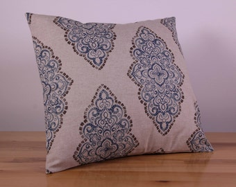Calico and Blue Paisley Cushion Cover (40cm x 40cm)