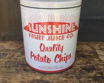 Vintage Potato Chip Tin