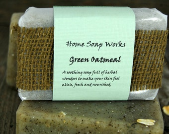 Green Oatmeal Skin Soother Soap