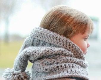 Crochet pattern, Patron de crochet – Avery Hooded Cowl Hood Hat Neck warmer (12/18 month - Toddler - Child – Teen- Adult sizes)