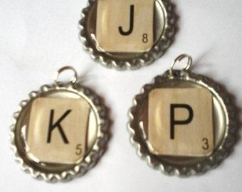 Scrabble tiles jewellery.