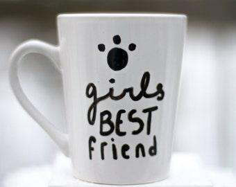 Girls Best Friend - Hand Drawn Coffee Mug