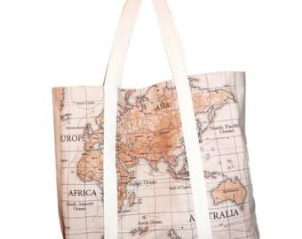 WorldMap tote bag