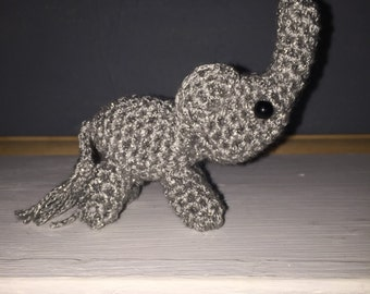 Miniture crochet elephant, Amigurumi