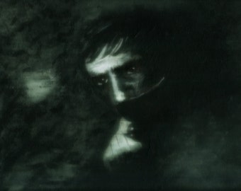 Portrait of Barnabas Collins from Dark Shadows - print