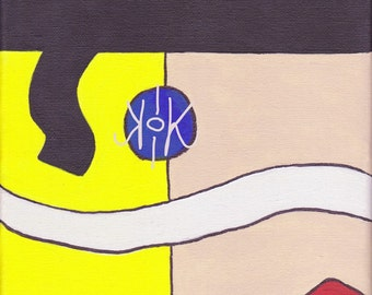"Adam ant 8x10"" acrylic abstract portrait"