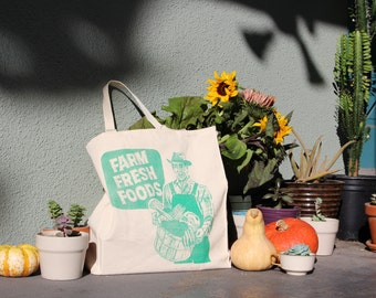 Farm Fresh Canvas Tote