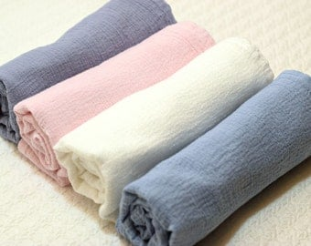 Custom Hand Dyed Swaddling Blanket- Solid Color- Choose Your Own Color- Lightweight Gauze- Muslin- Newborn Wrap