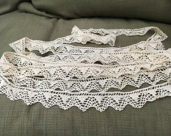 Three yards, two feet of vintage hand crocheted trim